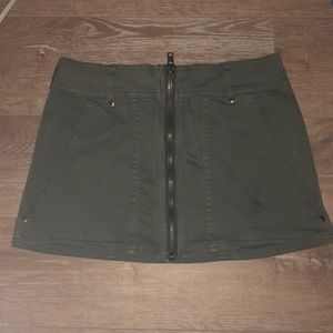 Free people army green mini skirt